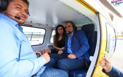 Helikopterde Doğum Günü Sürprizi